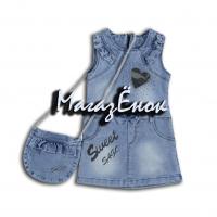 Платье для девочки из джинсовой ткани 07-018-3