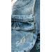 Платье для девочки из джинсовой ткани